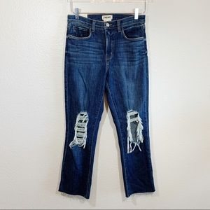 L'AGENCE Jordan high rise cropped distressed jeans